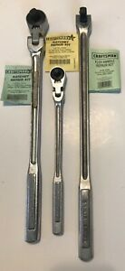 Craftsman 1 2 3 8 Inch Flex Head Ratchets Made In Usa And 1 2 Breaker Bar