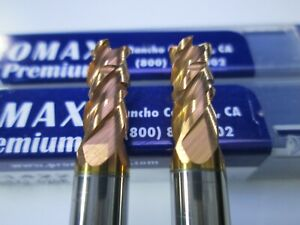 New Lot 2 Pcs Promax 7 32 Solid Carbide Roughing End Mills Milling Rougher