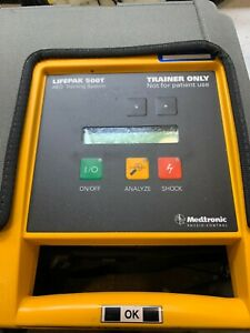 Medtronic Lifepak 500t Aed Defibrillator Trainer System W Case Mw4a
