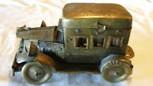 Antique Brass Decorative Car Or Jalopy With Compartments Free Shipping