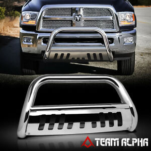 Fits 2010 2018 Dodge ram 2500 3500 Bull Bar Stainless Steel Grille Bumper Guard