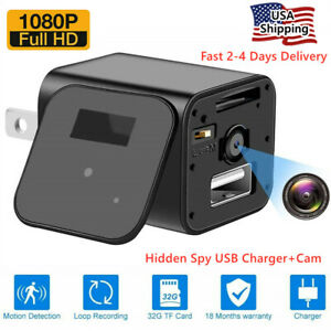 Full HD1080P Mini Hidden Spy Camera Motion Detection Security DVR Charger Cam US $17.99