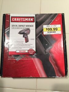New Craftsman 3 8 Inch Drive Compact Air Impact Wrench Model 19981