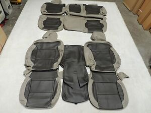 Leather Seat Covers Interior Replacement Fits Silverado Crew Lt Tan 2014 B13