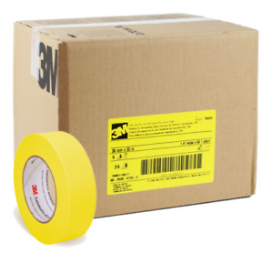 3m 06654 Automotive Refinish Yellow Masking Tape Rolls 1 41 pox60 1 Case 24 Pack