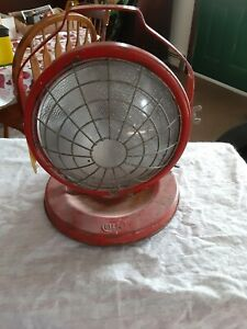Dietz Red Floor Light Rolling Spotlight Antique Vintage Industrial