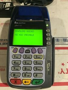 Verifone Omni 3750 Credit Card Terminal Reader With Ac Adapter