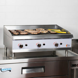36 Natural Gas Radiant Commercial Restaurant Kitchen Countertop Charbroiler