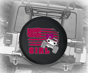 Spare Tire Cover Heart Headlights Pink American Flag Girl Jk Accessories