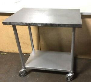 Stainless Steel Table 24 X 30 On Wheels