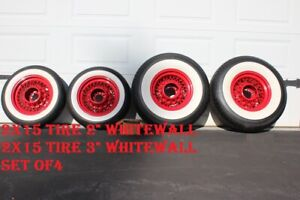 15 Tire 2 And 3 Wide Whitewalls Trim Set Of Four Chevy Ford Custom Car Truck
