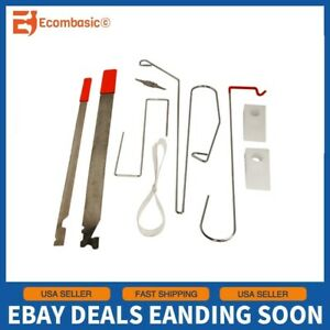 9pc Car Door Open Unlock Tool Kit Key Lock Out Emergency Opening Thin Bar Wedges