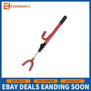 New Double Steering Wheel Lock Anti Theft Extendable Auto Hook Car Van Security