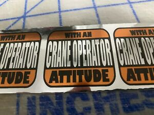 2 Funny Crane Operator Hard Hat welding Helmets Stickers Construction Decal