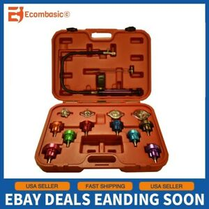 New 14pc Radiator Pressure Tester Kit Cooling System Test Detector Tool