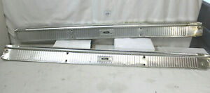1964 1966 Ford Thunderbird T bird Oem Scuff Plates W mounting Plate Supports