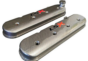 Lsx Valve Covers Sport Carbon Fiber Hydro Dipped Holley 241 405 Black Ls Red X