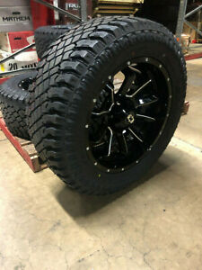 20x10 Vision Bomb Wheels Rims 35 At Xt Tires Package 8x170 Ford Super Duty F250