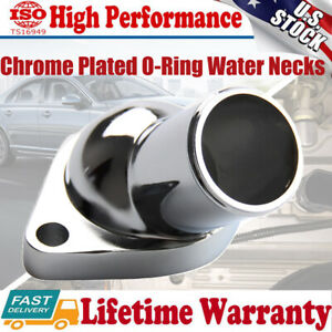 Chrome O Ring Water Neck Thermostat Housing For 55 65 Chevy Sbc 350 327 400 454