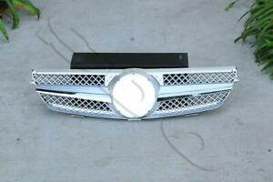 Silver Abs Front Grille Grill Fits 2003 2009 Mercedes benz W209 Clk350 Clk550
