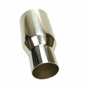 Sliver Exhaust Single Muffler Tip Polished Stainless Steel 2 5 In 3 5 Out