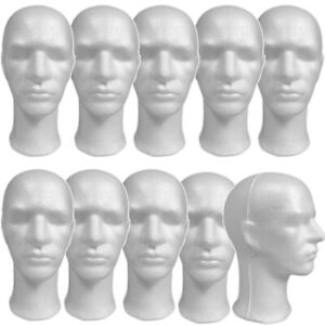 Less Than Perfect Mn 256 ltp 10 Pcs Male Styrofoam Mannequin Head With Long Neck