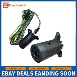 New 20 Feet Wire Adaptor Plug Kit For Rv Boat Towing Trailer Tail Light