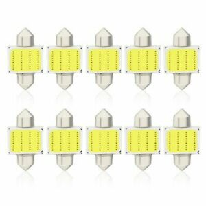 100x White C5w Festoon Led Bulbs 31mm Cob 12 Smd Car Interior Dome Lights 24v