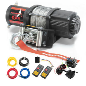 Electric Winch 4500lbs Steel Cable Recovery For Atv Ute Boat W Remote Control