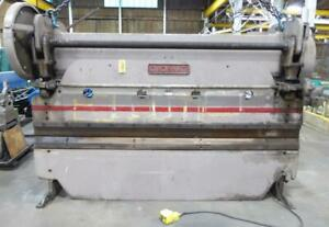 100 Ton Cincinnati No 4 10 12 Oa 10 6 Bh 3 St Mechanical Press Brake 29987