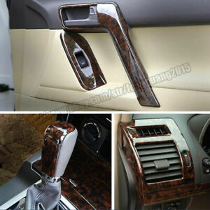 For Toyota Land Cruiser Prado 2010 2017 Wood Grain Dash Trim Kit Full Set