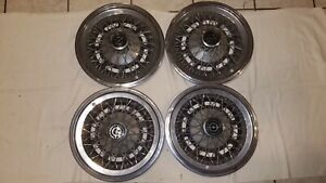 73 79 Ford Thunderbird 15 Spoke Wire Hub Cap Wheel Cover Hubcap Set Of 4 Oem