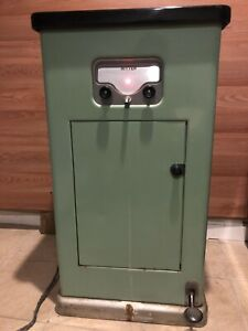 Vtg 1950 s Ritter Sterilizer Autoclave Cabinet Dental Barber Tattoo Shop Green
