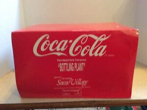 Dept 56~Snow Village~COCA COLA® BOTTLING PLANT~BRAND NEW STILL IN PLASTIC