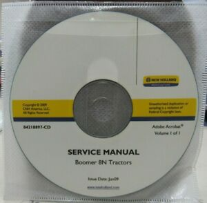 New Holland Boomer 8n Tractor Service Manual On Cd