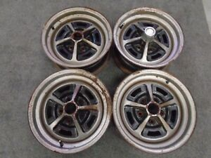 71 72 73 74 Amc Javelin 304 V8 Oem 5 Spoke Rally Wheels