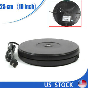 Led 360 Display Electric Rotating Display Stand Jewelry Display Turntable 25cm