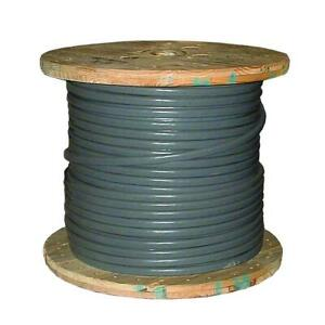 Southwire Service Entrance Wire 500 Ft Stranded Seu Cable Copper Jacketed Gray