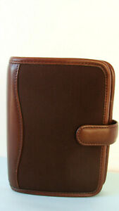 Pocket 7 8 rings Franklin Covey Brown Microfiber W Nappa Trim Planner binder