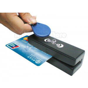Zcs100 Rfid Reader writer And Magnetic Stripe Card 3 Tracks Reader 13 56mhz Bg
