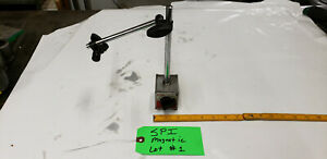 Spi Magnetic Base Indicator Holder With Rods And Clamps Strong Magnet Lot 1