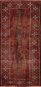 Tribal Hand Made Vintage Geometric Balouch Area Rug All Over Oriental Carpet 4x8