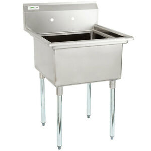 28 Stainless Steel Nsf One Compartment Commercial Restaurant Kitchen Sink
