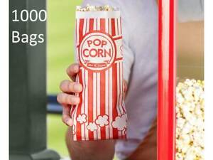 1000 pack Red 1 Oz Grease Resistant Printed Paper Popcorn Bags