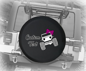 Spare Tire Cover Custom Cute American Offroad Hearts Bows Pink Jk Accessories