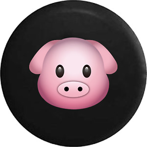 Spare Tire Cover Series Cute Pink Pig Text Emoji Jk Accessories
