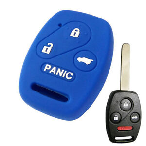 1pc Silicone Car Key Fob Cover Case 4 Button For Honda Accord Civic Fit Pilot