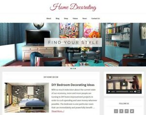 new Design Home Decorating Blog Website Business For Sale Auto Content