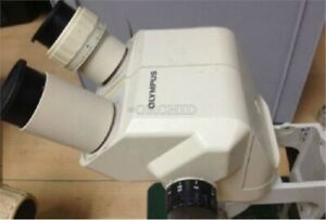 Used Olympus Sz40 Sz4045 Microscope W video Port Led Light Sm