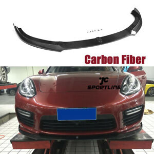 Carbon Fiber Front Bumper Lip Spoiler Fit For Porsche Panamera Gts Turbo S 14 16